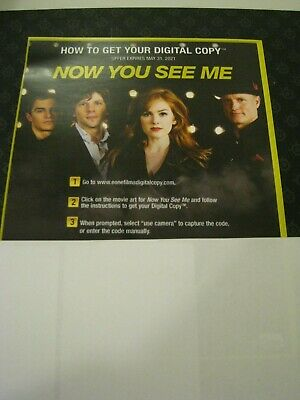 Now You See Me (Digital Movie DL) Canada Only iTunes