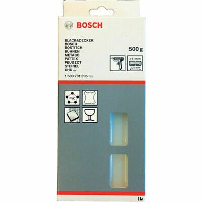 Bosch 1609201396 11x45mm Transparent Glue Stick 500g