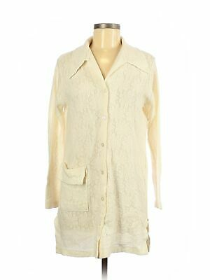 Assorted Brands Women Ivory Long Sleeve Blouse L