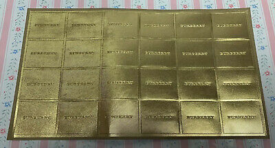 "Full Sheet Of Gold Burberry Seals / Stickers, 2"" X 1.75"""