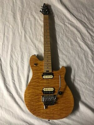 Peavey EVH Wolfgang Special EXP Quilt Top D-Tuna Amber 2002 Limited W/ Case