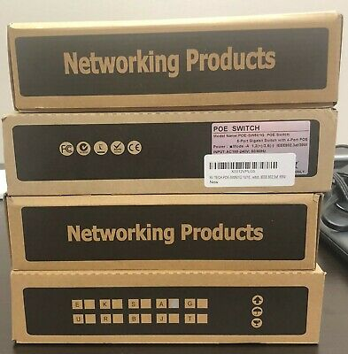 New In Box BV-Tech 5 Port Gigabit PoE Switch