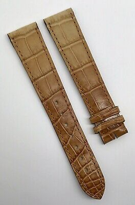 Authentic Cartier 19mm x 16mm Brown Tan Alligator Watch Strap Band OEM