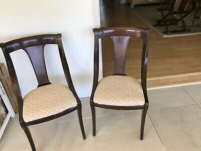 Pair of Vintage/Antique Mahogany Dining Room Side Chairs 1930's