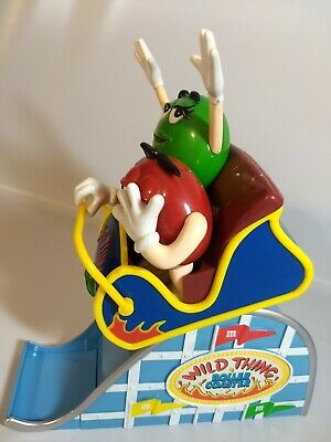 "M&M Wild Thing Roller Coaster Plastic Candy Dispenser 11"" Tall Mars Inc M and M"