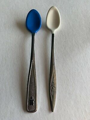 2 Vintage Baby Spoons Evenflo & 80s The First Years
