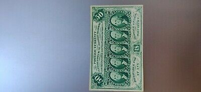 "FR1312 50 CENT 1st Issue FRACTIONAL CURRENCY - With ""ABC"""