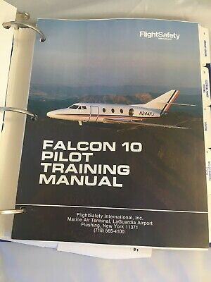 Falcon 10 - FlightSafety International Pilot Training Manual - Rev 4 Feb 1990