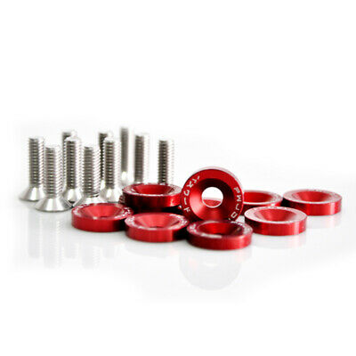 Practical 10PCS Car Anodized Aluminum Fender Washers 4x20mm Steel Bolts Useful
