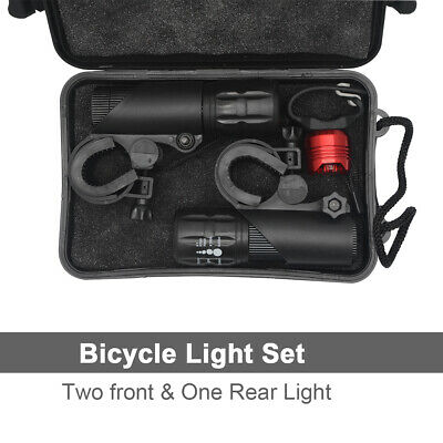 2Set Bike Light Head + Tail Lights  LED Lamp Safety Alarm Cycle Bicycle NEW AU