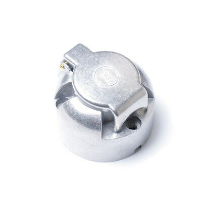 Professional 7-Pin Round Aluminum Trailer Plug Socket Connector for Boat Truck
