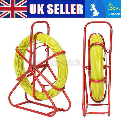 5mm x 100m Fiberglass Wire Cable Rod Duct Electrical Tape Running Puller