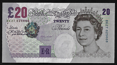 Great Britain(1)Bank Note  20  Pounds  1999-2003  P 390 A  Uncirculated
