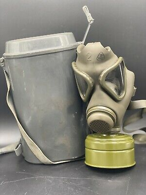 NBC Gas Mask German Drager Military & Police M65 Sealed Unused Filter w/Canister
