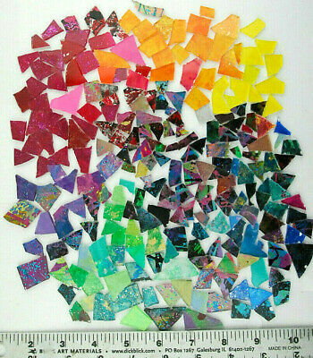 1/2 pound bag of MIXED COLOR SCRAPS!   Glass Mosaic Tile by Makena Tile
