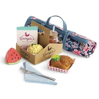 New American Girl Tenney Picnic Set~Play Food~Blanket~Glass of Tea~Blaire too
