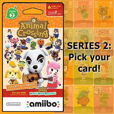 Animal Crossing Amiibo Cards Series 2 #101-200 US/NA Version Authentic OOP MINT!
