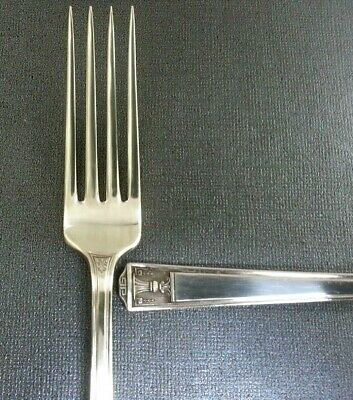 "2 Holmes & Edwards CENTURY 1923 Silverplate 7 1/8"" Dinner Forks Silverware NICE"