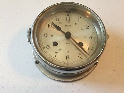 SALEM SHIPS BELL CLOCK 8-day movement. Vintage