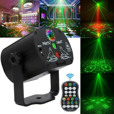 60 Pattern LED Stage Lighting RGB Laser Projector Disco Party Club DJ Light NEW