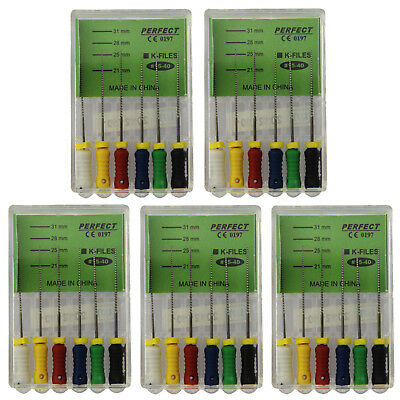 5 Box Perfect Dental Endo Root Canal NiTi K-File 15-40# 25mm Hand Manual Use