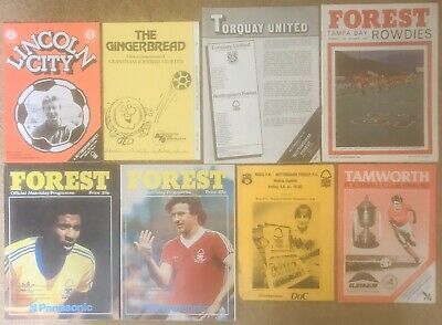 NOTTINGHAM FOREST FC 1980s FRIENDLY FOOTBALL PROGRAMMES COLLECTION Rare Job Lot