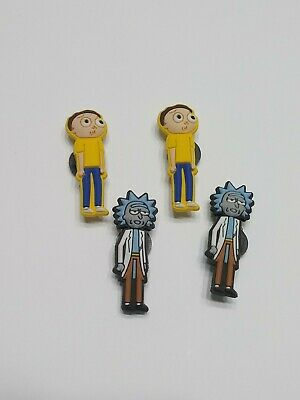 4 Pieces Rick And Morty PVC Rubber Shoe Charms