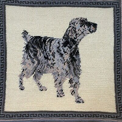 Hunting Dog Brittany Spaniel Setter BEAUTIFUL VINTAGE Needlepoint ONLY Petit