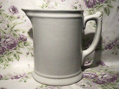 Antique White Ironstone Pitcher by Royal China International C. 1900 Victorian