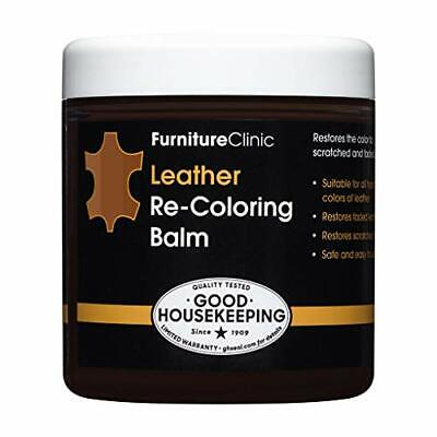 Furniture Clinic Leather Recoloring Balm - Leather Color Restorer Medium Brown