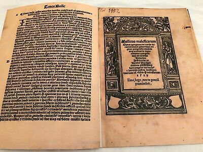 Malleus Maleficarum 1519 , Hammer Of Witches. Facsimile