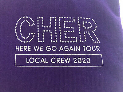 CHER HERE WE GO AGAIN TOUR Local Crew 2020 T shirt size XL NEW Purple