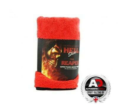 Autobrite Direct ADREAP586 Hellshine The Reaper Super Plush Drying Towel 60x60cm