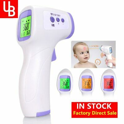 Forehead Non Contact Baby Thermometer Infrared LCD Body Temperature Fever