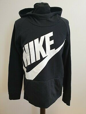 Gg904 Boys / Girls Nike Black White Emblem Thin Tracksuit Hoodie Age 13-15 Years