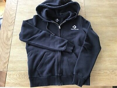 Converse Black Hoodie Size XS Excellent Condition (approx age 11-12 years)