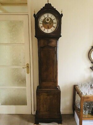 Golden Mahogany Longcase/grandfather Clock