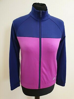 Gg925 Girls Adidas Purple Pink L/Sleeve Full Zip Tracksuit Jacket 11-12 Years