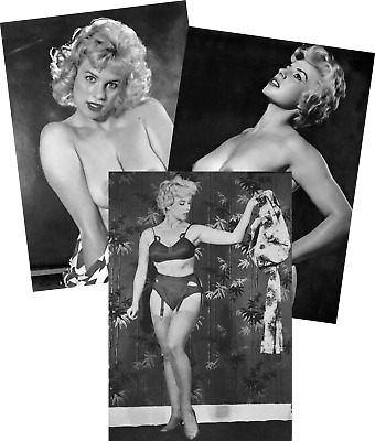 BRENDA GRAHAM JOB LOT SET 10 VINTAGE PIN UP PHOTOS 7 X 5 1950s PLAYBOY GLAMOUR