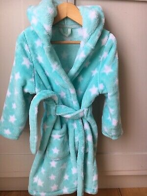 Girls M&S Star Towelling Robe with Hood, Size 3-4 Years
