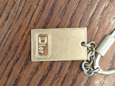 Rare Vintage Gold Tone Christian Dior Keychain Made In France