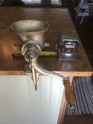 Universal Meat grinder No 2 chopper and cutter attachments Vintage food chopper