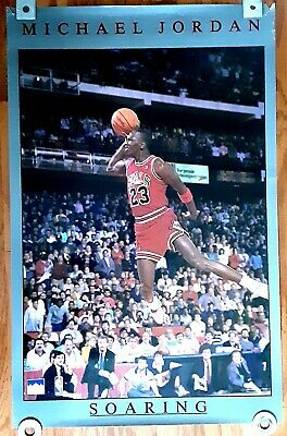 Michael Jordan 1989 Starline Poster Chicago Bulls 23 Nba Basketball Soaring Dunk