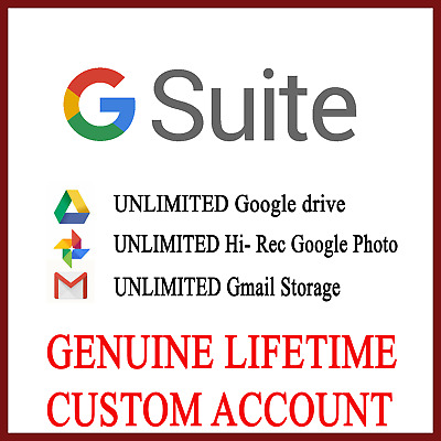 New Unlimited Google Drive Lifetime Cloud Storage Custom Gsuite Account NOT .EDU