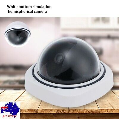 Fake Dummy Dome CCTV Security Camera Home LED Flash Motion Detector Outdoor AU