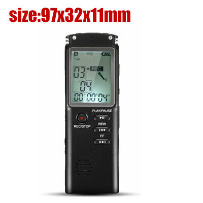 Voice Recorder Mini Digital Sound Audio Dictaphone Rechargeable MP3 Player 4u