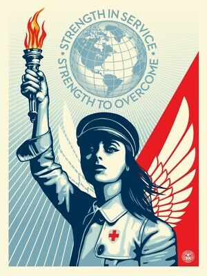 Shepard Fairey Angel of Hope and Strength Signed / Numbered #/550OBEY GIANT