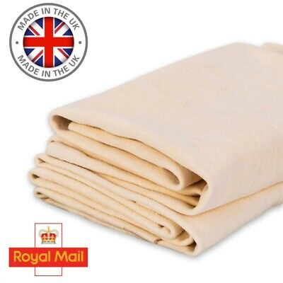 3.5 SQ FT Genuine Chamois Leather Best Quality Car cloth tanned Sheepskin UK