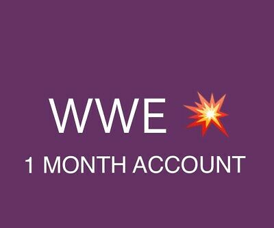 💥 WWE live Network Premium Account 1 Month Warranty Fast Delivery 🚚 - Easy👍