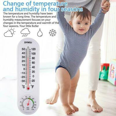 Accurate Analog Humidity Temperature Meter Gauge Thermometer Hygrometer Ind I1Z7